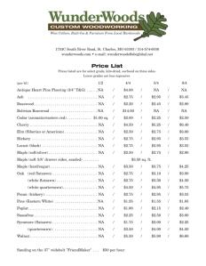 lumber pricelist wunderwoods
