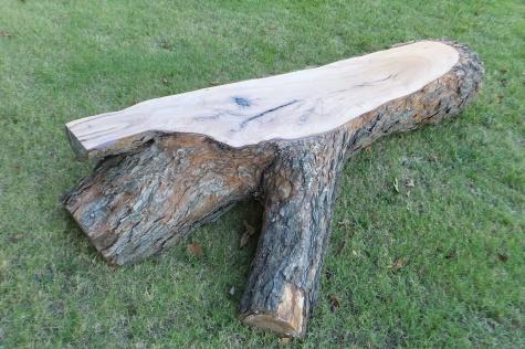 Outdoor Natural Pecan Wood Bench 4