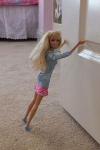 Barbie did a great job of holding the door open.